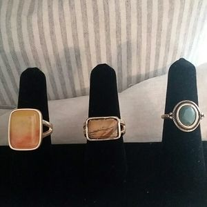 Set of 3 rings boutique rings